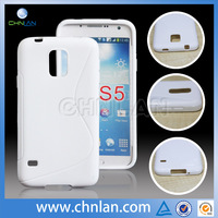 Top Quality Newest Anti slip S line Back Cover Case for samsung galaxy s5 s tpu case