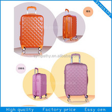 3pcs set hard shell luggage, stock abs/pc trolley suitcase
