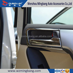HOT SELL! for 2014 Toyota Land Cruiser Prado Exterior/interior Accessories ABS chrome Car door inner armrest handle bowl cover