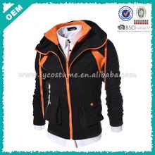 Wholesale snowboard men stylish tall body hoodie (lyh020011)