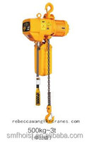 Fixed electric chain hoist, professional for heavy lifting, max 10ton