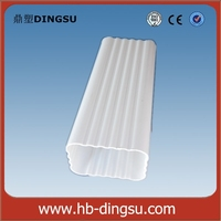 FACTORY DIRECT supply - White Square PVC roof rainwater gutter/downspout size: