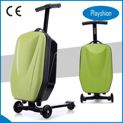 Girls travel luggage, 2 in 1 scooter luggage for wholesale