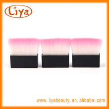 Professional small compact blush brush with soft nylon hair and costom packing