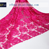 2015 new guipure organza fashion fushia pink lace fabrics flower embroidery designs nigerian cord lace for wedding dress