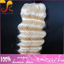 #613 blonde deep wave original brazilian human hair sew in weave