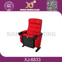 XJ-6833 fixed seat pushing back cinema chair, cinema seating