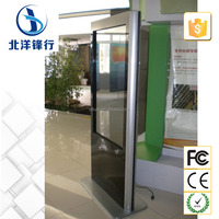 "55"" LCD digital poster display floor standing lcd video display to advertise in retail stores"