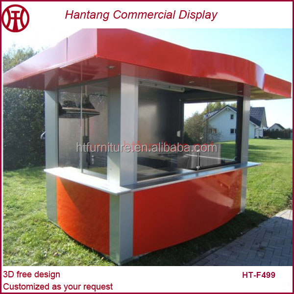 Quality well guaranteed professional 3d max outdoor food for Exterior kiosk design