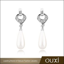 OUXI cheap big sale quality guaranteed double sided pearl earring
