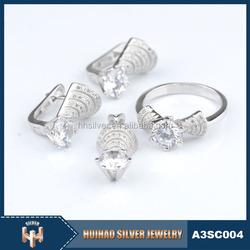 popular best price latest fashion peacock bridal jewelry set s925 silver