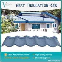 Best price waterproof performance cheap metal resin roofing tiles