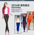 sexy diseño barato color jeans para mujeres