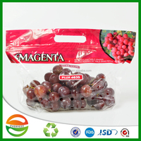 Transparent fruit protection grapes bag with air holes