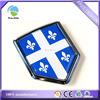ABS hard plastic shield shape flag chrome emblem sticker