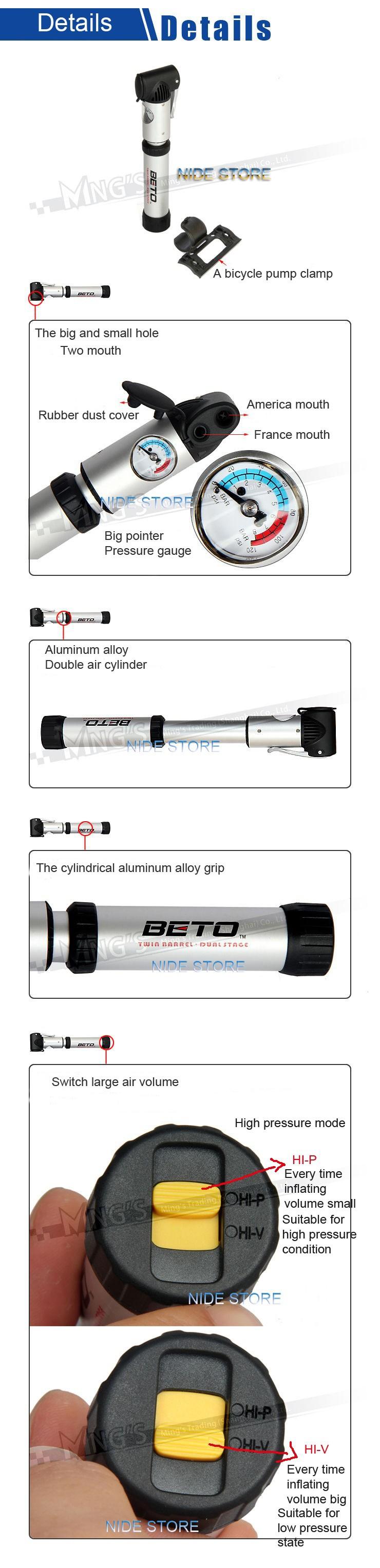 Новый мини-алюминиевого сплава воздушный насос велосипедов Велоспорт шины велосипеда насос mtb шин насос