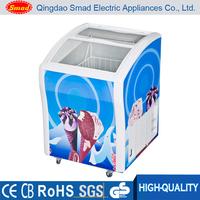 Mini portable display chest freezers used for ice cream