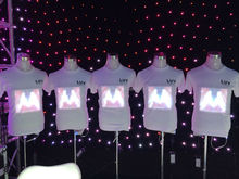high Quality EL T-Shirt Sound Activated Flashing T Shirt Light Up Down Music Party Equalizer LED T-Shirt