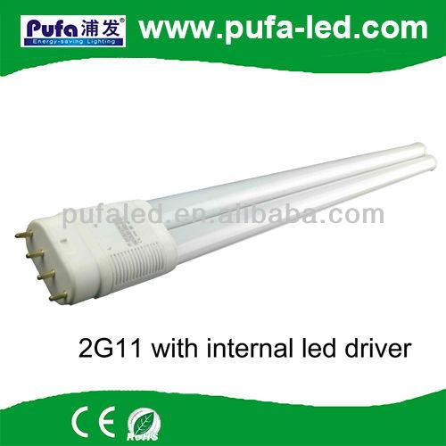 aislados externa del conductor del led 6w 7w philips 2g11 reemplazo del tubo del led