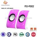 ( pss- pc022#) mini alto-falante usb para pc tablet com 3.5mm jack de áudio, mini porta usb de carregamento