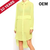Ladies fashion dresses with pictures top brand names of ladies dresses long sleeves dress shirt HST7101