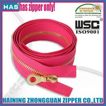 HAS golden zipper close end custom gold zip fashion slider smooth bag zipper metal