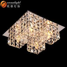 Comedor sala de lámparas de araña, plata de araña de cristal om88216-4