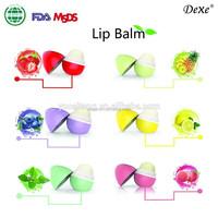 Ball Lip Balm case Moisturizing & Vitamin E makeup lip balm ball