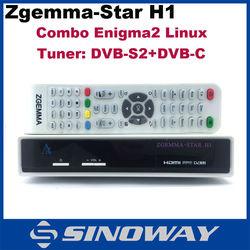 Original Zgemma-star H1 Zgemma-star H2 HD digital Satellite Receiver with DVB-S2+DVB-T2 Tuner Enigma2 replace Cloud ibox 3 se
