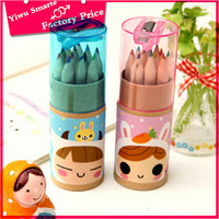 2016 New Kids gift for school stationery product 12 pcs in one box wood colour pencil