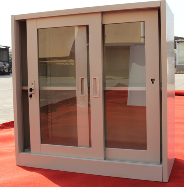 2016 Spcc Small Tv Cabinet With Sliding Glass Door Showcase Buy