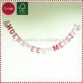 Favor de partido del alfabeto de la letra banner para baby shower decoraciones