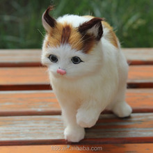 realistic artificial fake fur toy cats that look real