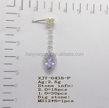 wholesale high quality elegant cz crystal stud earrings for party