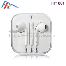 Hot selling High quality earphone with mic and volume control for iPhone5 iPad