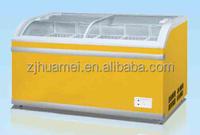 598 L Curved Glass Island freezer