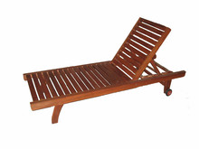 Portable and classic Adjustable plastic wood beach chair