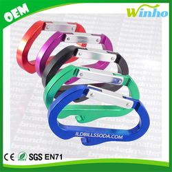 Winho Custom Carabiner Keychain Bottle Opener Bulk Assorted Colors