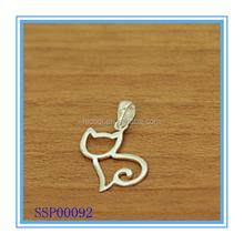 Fashion Cute Cat 925 Sterling Silver Pendant