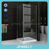 Nano easy clean sliding stainless steel bathroom shower enclosure
