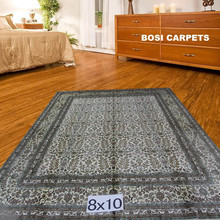 8x10ft classic area silk persian traditional red rugs and carpets
