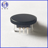 10mm rotary encoder with black plastic roller for volume control