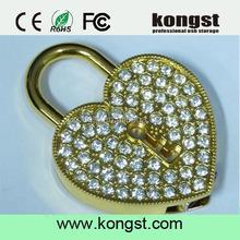 100% real capacity metal crystal heart necklace jewelry diamond Memory usb flash drives 4gb8gb16gb wedding gift usb