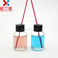 hot selling 30ml mini clear glass high quality perfume diffuser bottle with screw cap