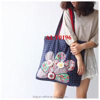 china cheap handmade linen shopping bag for storage