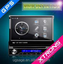 "D714SG-One Din 7"" Motorized detachable HD Touch Screen DVD Car GPS"