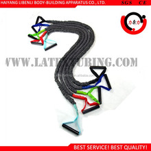 100% Natural Latex Resistance Band With Fabric Covered