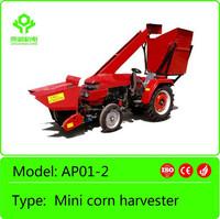 2 rows mini corn combine harvester on sale