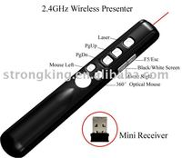 high quality wireless presenter mouse with laser pointer