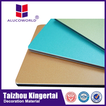 Alucoworld marble finish aluminum composite panel/stone look wall panelling walls panels